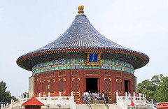 Imperial Vault of Heaven, Beijing, China (Miche & Jon Rousell) Tags: china beijing templeofheaven imperialvaultofheaven temple beams blue green gold phoenix pano panorama