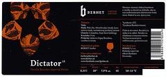 Slovakia - Berhet s.r.o. (Bardejov) (cigpack.at) Tags: slovakia slowakei berhet bardejov dictator vanillabourbonimperialporter limitededition bier beer brauerei brewery label etikett bierflasche bieretikett flaschenetikett