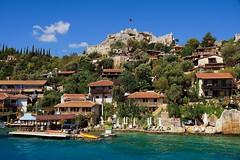 Turkey. Kekova island (prokhorov.victor) Tags: путешествие туризм турция остров море дома крепость