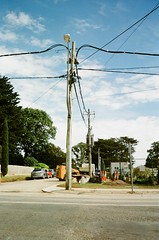 Power lines pole (Matthew Paul Argall) Tags: kodakvr35k4 fixedfocus 35mmfilm kodakproimage100 powerlines powerlinespole 2019 2010s proimage100