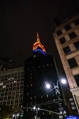 Nearing the End of the Night Tour (Jocey K) Tags: empirestatebuilding sonydscrx100m6 triptocanadaandnewyork architecture buildings evening illumination nighttourhopandhopoffbus newyorkcity