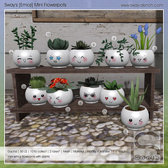 Sway's [Emoji] Mini Flowerpots . Key | GachaLand (Sway Dench / Sway's) Tags: gacha plants pot emoji cute kawaii monstera succulent flower vr sl sways