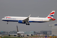British Airways - Airbus A321-251NX G-NEOR @ London Heathrow (Shaun Grist) Tags: gneor ba britishairways speedbird airbus a321 a321251nx neo shaungrist lhr egll london londonheathrow heathrow airport aircraft aviation aeroplanes airline avgeek landing 27l