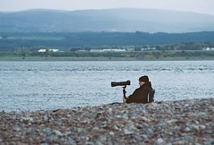 Dolphin Watchers (4), Chanonry Point, May 2016 (Mano Green) Tags: dolphin watchers nature wildlife people person camera shore sea bealy firth chanonry point black isle scotland uk may spring 2016 water hills beach