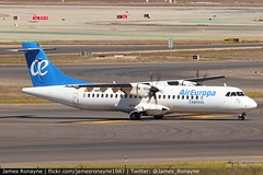 EC-MSN | ATR 72-500 | Air Europa Express (james.ronayne) Tags: ecmsn atr 72500 air europa express at75 x5 ova ux aea aeroplane airplane plane aircraft airliner aviation flight flying canon 80d 100400mm raw sky madrid barajas mad lemd turbo turboprop tp