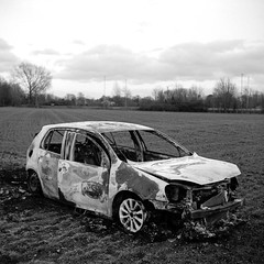 Burnt out car (tercrossman87) Tags: zeiss ikon nettar 51816 ilford hp5 400 1600 push home development film epson v550 rodinal 125