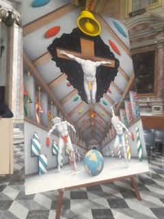Trasporto di un opera d'arte presso la Basilica di Sant'Anastasia