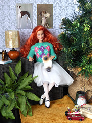 Merry Christmas! (*SquishTish*) Tags: doll barbie ooak jswdolls ginger redhead curls repaint madetomove lascosicasdenuria ikea cat miniature miniatures furniture toys christmas christmastree imidadolls sweater clothes fashion style outfit squishtish