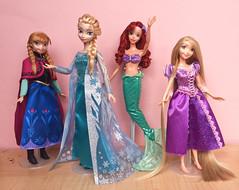 Disney Signature Collection by Mattel (honeysuckle jasmine) Tags: barbie signature mattel collection tangled rapunzel ariel thelittlemermaid mermaid frozen anna elsa doll disney disneyprincess