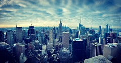 Big city, big dreams (roodle66) Tags: landscapephotography landscape iphonephotography iphone8plus iphone angles architecture buildings cityscape city skyline clouds oneworldtradecentre empirestatebuilding manhattan newyork nyc rockefellercentre topoftherock