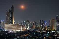 21jan19moonrise-1 (Paniwat) Tags: moonrise cityscape night bangkok thailand fujifilm xt100 full moon