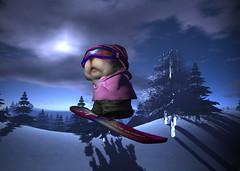WIP / Hamster snowboarder