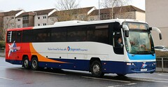 Stagecoach Fife 54075 SV59CHY in Glasgow working an X26 service. (Gobbiner) Tags: plaxton stagecoachfife volvo 54075 glasgow x26 panther b12b glenrothes sv59chy buchanlink bluebird
