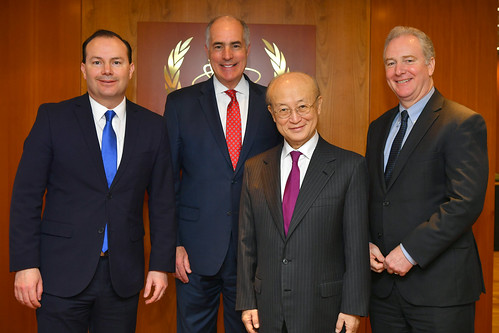 Yukiya Amano meets with US Senators Mike Lee, Bob Casey & Chris Van Hollen (01911191)