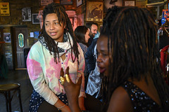 DSC_0870 Susie from Sierra Leone West Africa with Dreadlocks Alesha and Friend The Haggerston Pub Kingsland Road London (photographer695) Tags: susie from sierra leone west africa with dreadlocks alesha jamaican lady portrait the haggerston pub kingsland road london ladies friend