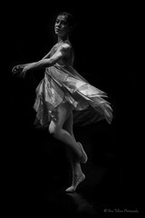Elegance (Bina Fellowes) Tags: geraldinelambdanceschoolplymouth performance dance movement ballerina blackandwhite fine art low light
