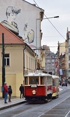 Museumtramstel 2172+1530 Jindřišská Praag (eddespan (Edwin)) Tags: museumtram tram trammuseum tramway tramvaj tramwaymuseum streetcar strasenbahn strasenbahnmuseum streetcarmuseum trolley praag prague praha prag tsjechië tschechien czechrepublic czech cz