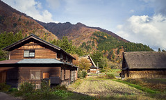 Shirakawa village (KaeriRin) Tags: japan gifu prefecture japanese tourism travel mountain village sony7m2 sony alpha a7 28mm20 sel2820 28mm wideangle autumn sky green season red