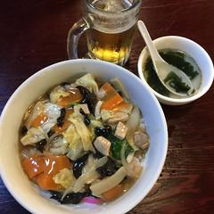 Chuuka Bowl (hinxlinx) Tags: food dinner dish rice bowl sapporo beer aoki chuuka chinese japanese