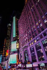 Different Shades of Purple (Jocey K) Tags: sonydscrx100m6 triptocanadaandnewyork architecture buildings evening illumination billboards timessq nighttourhopandhopoffbus