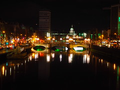 River Liffey, Dublin (Hammerhead27) Tags: darkness traffic colours riverliffey lights dark night ireland dublin city quay river water bridge