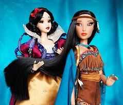Ravishing Raven Hair (ozthegreatandpowerful) Tags: limited edition d23 pocahontas snow white doll dolls reroot