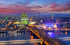 _MG_6709 - Colorful Köln (AlexDROP) Tags: 2015 cologne germany deutschland travel color building city urban architecture bluehour canon6d ef241054lis best iconic famous mustsee picturesque postcard river longexposure sky cathedral church skyline bridge