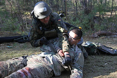 190329-A-YI096-0004 (U.S. Department of Defense Current Photos) Tags: efmb medics nato usarmyeurope casualty field testing evaluation expert qualification strongeuropeefmb2019 grafenwoehr bayern germany de