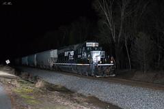 NS 098 at CP Aragon (travisnewman100) Tags: norfolk southern ns train railroad rr manifest freight locomotive emd sd402 special 098 atlanta north district aragon georgia division