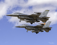 """""""Side By Side Short Final"""" Pair of United States Air Force General Dynamics F-16 Fighting Falcon's (Hawg Wild Photography) Tags: united states air force general dynamics f16 fighting falcon 310th fighter squadron tophats 56th operations group lukeairforcebase maj kyle moose crosby lt col rob spaz faustmann f16cm42cf af900759 900759 af870358 870358 terrygreen hawg wild photography nikon d850 sigma 150600 contemporary"""
