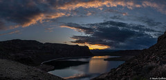 Sunset over Duty (Mark Griffith) Tags: ancientlakes annual backpacking camping desert dustylake easternwashington overnighter quincy sonyrx100va traditions washington 20190329dsc01757pano