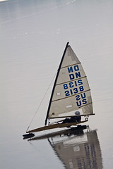 DOWNHILL RACER (ddt_uul) Tags: ice boat iceboat winter cold water frozen sail sailboat wind fast speed vehicle detroit detroitnews whitmorelake dn
