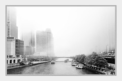 """""""PEA SOUP"""" on the Chicago River (TAC.Photography) Tags: fog foggy chicago chicagoriver blackandwhite bw monochrome peasoup atmosphere urbanlandscape downtown d7000 boats tomclarknet tacphotography"""