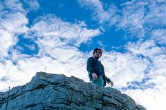 Sauve, janvier 2019 (YassChaf) Tags: sauve gard france cévennes ruines pierres rock ruins hero shot portrait ciel sky blue bleu clouds nuage homme man
