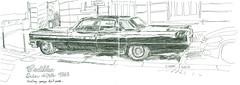 Cadillac3 (sylvain.cnudde) Tags: cadillac paquebot voiture car americancar sixties sketch croquis usk urbansketcher urbansketch