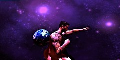 """"""" Sometimes It Feels Like The World's On My Shoulders """" (maka_kagesl) Tags: secondlife sl second life game gaming games videogame virtual portrait photography photo picture pose pic painting posing art"""