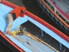 varanasi 2019 (gerben more) Tags: varanasi benares india man boat ganges ganga sleeping barefoot