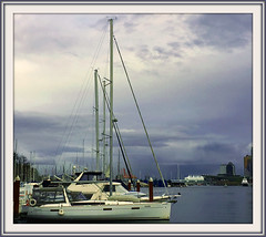 """Sea to Sky (FernShade) Tags: vancouver """"britishcolumbia"""" """"westcoast"""" """"pacificnorthwest"""" cityscape urban """"urbanscenery"""" """"coalharbour"""" boats yachts harbour harbourscene winter boat sea water sky city"""