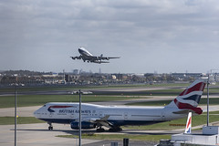 British Airways Boeing 747 G-BYGC BOAC Colours Departing (Adrian Williams P H O T O G R A P H Y) Tags: boac retro ba baw 747 boeing london heathrow airport egll lhr gbygc