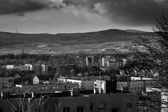 Bogatynia (Kamil Gawlak) Tags: bogatynia lower silesia poland buildings sky clouds monochrome black white coal mine