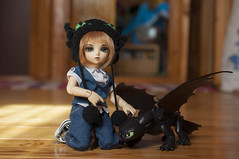 How To Train Your Dragon 16 (Mista-Oro) Tags: toy howtotrainyourdragon dragon dreamworks toothless fairyland ltf littlefee chiwoo bjd doll