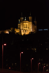 Basilique Notre Dame de Fourvière (faoch) Tags: lyon france night church