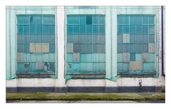 The Built Environment, South East London, England. (Joseph O'Malley64) Tags: thebuiltenvironment newtopography newtopographics manmadeenvironment manmadestructure building structure artdecobuilding industrialbuilding industrialestate industrialunits architecture urbanarchitecture industrialarchitecture architecturalfeatures architecturalphotography documentaryphotography britishdocumentaryphotography southeastlondon london england uk britain british greatbritain steelreinforcedconcretestructure reinforcedconcrete concrete brickwork bricksmortar cement pointing windows brokenwindows crittallwindows safetynetting netting drainpipe lightningconductors copperearthingstraps wiring electricalwiring moss weeds tarmac demolition awaitingdemolition urban urbanlandscape artdeco fujix fujix100t accuracyprecision