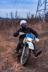 Winter ride (kwtracyghostship) Tags: trailride pennsylvania kwtracyghostship dirtbike hondaxr200r alleghenycounty commonwealthpa westernpa clairton unitedstatesofamerica us cold path powerline trails outside winter