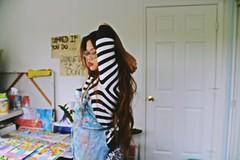 IMG_6726 (krizkolovesyou) Tags: asian asians art asiangirls artist aesthetic arts asiangirl acrylic aesthetics artistsonflickr artwork apron artgallery arsty filipina filter fun filipino flowers flickr flash canon canont3i canon600d canonrebel canonn canon600 c4c long hair wavy brown stripes emo grunge studio