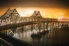 It's All Over and I'm Standing Pretty (Thomas Hawk) Tags: america bayarea baybridge california eastbay northerncalifornia oakland sf sfbayarea sanfrancisco usa unitedstates unitedstatesofamerica westcoast bridge night norcal fav10 fav25 fav50 fav100