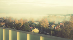 Autumn morning view (David Lundvall) Tags: morning autumn mist weather sweden sollentuna houses canonpowershotg7xmarkii