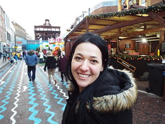Nina - trying to get the right angle:) (sean and nina) Tags: belfast december 2018 winter city centre shopping sight seeing photo photographer mobile phone hair head black coat furry hood brunette long dark candid public street irish ireland eire north northern woman female girl lady happy married serb beauty beautiful gorgeous stunning charm charming nina face brown eyes pink lips hands screen device people christmas cold