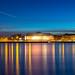 Blue hour view of Mainz