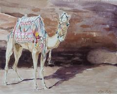 Camel in Shade 8x10 Watercolor #sketch#camel#rock#watercolor#benkelleyart (benjaminkelley1) Tags: rock watercolor benkelleyart camel sketch